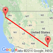 Dallas (Dallas/Fort Worth International, DFW) - Chehalis (Centralia, CLS)