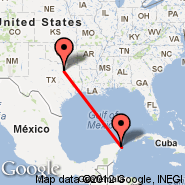 Dallas (Dallas/Fort Worth International, DFW) - Cancun (Cancún International, CUN)