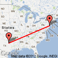 Dallas (Dallas/Fort Worth International, DFW) - Newark (Newark Liberty International, EWR)