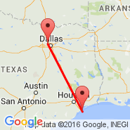 Dallas (Dallas/Fort Worth International, DFW) - Galveston (Scholes Field, GLS)