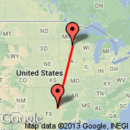 Dallas (Dallas/Fort Worth International, DFW) - Minneapolis (Minneapolis - St. Paul Intl, MSP)