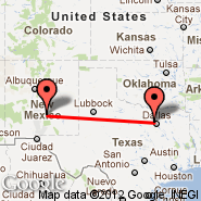 Dallas (Dallas/Fort Worth International, DFW) - Ruidoso (Municipal, RUI)