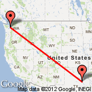 Dallas (Dallas/Fort Worth International, DFW) - Seattle (Seattle-Tacoma International, SEA)