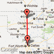 Dallas (Dallas/Fort Worth International, DFW) - Stillwater (Searcy Fld, SWO)