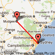 Mudgee (DGE) - Sydney (Kingsford Smith, SYD)