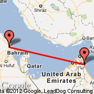 Dammam (King Fahd International Airport, DMM) - Al Fujairah (Fujairah Intl, FJR)
