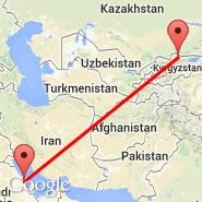 Dammam (King Fahd International Airport, DMM) - Bishkek (Manas, FRU)