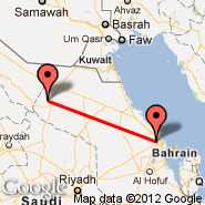 Dammam (King Fahd International Airport, DMM) - Hafar Al-Batin (Hafr Albatin, HBT)