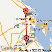 Dammam (King Fahd International Airport, DMM) - Hofuf/Al-Ahsa (Alahsa, HOF)