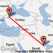 Dammam (King Fahd International Airport, DMM) - Istanbul (Ataturk, IST)