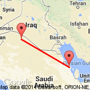Dammam (King Fahd International Airport, DMM) - Arar (RAE)
