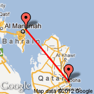 Doha (Doha International Airport, DOH) - Bahrein (Bahrain International, BAH)