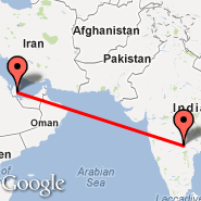 Doha (Doha International Airport, DOH) - Hyderabad (Chennai Airport, HYD)