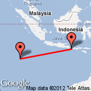 Denpasar/Bali (Ngurah Rai International, DPS) - Cocos Islands (Cocos (Keeling) Islands, CCK)