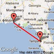 Destin (Destin-Fort Walton Beach Airport, DSI) - Tampa (Tampa International, TPA)