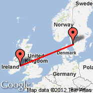 Dublin (Dublin International Airport, DUB) - Gothenburg (Landvetter, GOT)