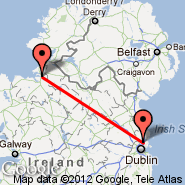 Dublin (Dublin International Airport, DUB) - Sligo (Collooney, SXL)