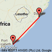 Durban (Durban International, DUR) - Port Alfred (AFD)