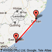 Durban (Durban International, DUR) - East London (ELS)