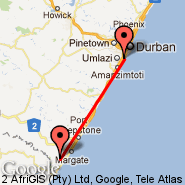 Durban (Durban International, DUR) - Margate (MGH)