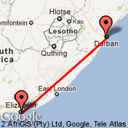 Durban (Durban International, DUR) - Port Elizabeth (PLZ)