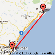 Durban (Durban International, DUR) - Richards Bay (RCB)