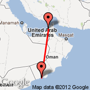 Dubai (Dubai International Airport, DXB) - Salalah (Salalah International Airport, SLL)