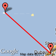 Dubai (Dubai International Airport, DXB) - Sirri Island (SXI)