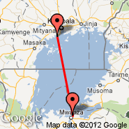 Entebbe (Entebbe International Airport, EBB) - Mwanza (MWZ)