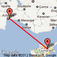 Ercan (Ercan International Airport, ECN) - Antalya (AYT)