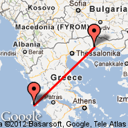 Kefalonia (Kefalonia Istland International Airport, EFL) - Kavala (Megas Alexandros International, KVA)