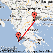 Kefalonia (Kefalonia Istland International Airport, EFL) - Thessaloniki (Macedonia International, SKG)
