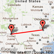 El Paso (El Paso International Airport, ELP) - Dallas (Dallas/Fort Worth International, DFW)