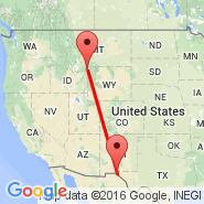 El Paso (El Paso International Airport, ELP) - West Yellowstone (Yellowstone, WYS)