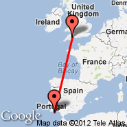 Exeter (Exeter International Airport, EXT) - Faro (Faro, FAO)