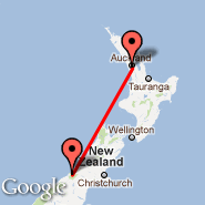 Fox Glacier (Heliport, FGL) - Auckland (Auckland International, AKL)