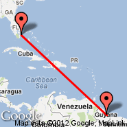 Fort Lauderdale (Fort Lauderdale/hollywood International, FLL) - Georgetown (Cheddi Jagan International, GEO)