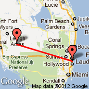 Fort Lauderdale (Fort Lauderdale/hollywood International, FLL) - Immokalee (Immokalee Regional Airport, IMM)