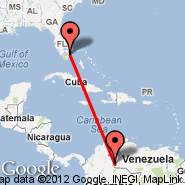 Fort Lauderdale (Fort Lauderdale/hollywood International, FLL) - San Cristobal (Paramillo, SCI)