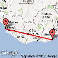 Freetown (Lungi International, FNA) - Accra (Kotoka, ACC)