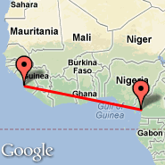 Freetown (Lungi International, FNA) - Douala (DLA)