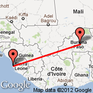 Freetown (Lungi International, FNA) - Ouagadougou (OUA)