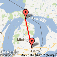 Flint (Bishop International Airport, FNT) - Mackinac Island (MCD)