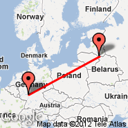 Frankfurt (Frankfurt International Airport, FRA) - Daugavpils (Daugavpils International Airport, DGP)