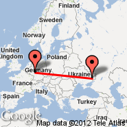 Frankfurt (Frankfurt International Airport, FRA) - Donetsk (Donetsk International Airport, DOK)