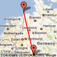 Frankfurt (Frankfurt International Airport, FRA) - Norderney (NRD)
