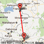 Francistown (FRW) - Johannesburg (Oliver Reginald Tambo International, JNB)