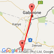 Gaborone (Sir Seretse Khama International, GBE) - Mmabatho (Mafikeng International Airport, MBD)