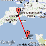 Guernsey (GCI) - Exeter (Exeter International Airport, EXT)