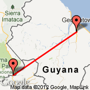 Georgetown (Cheddi Jagan International, GEO) - Santa Elena (SNV)